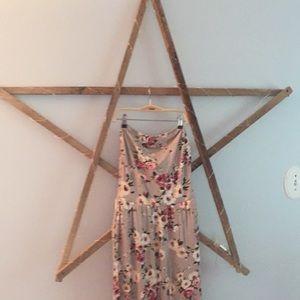 Long strapless boutique dress with  vest EUC!